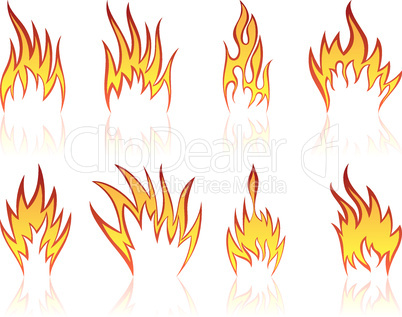 fire patterns set