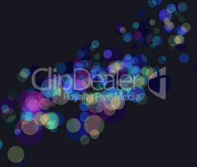Multi color bokeh lights background. No transparency and effect