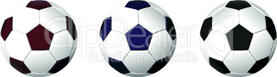 An isolated image of a leather soccer ball