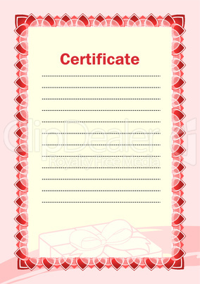 Blank of certificate