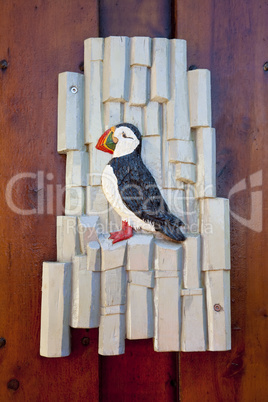 Puffin Sign In Iceland