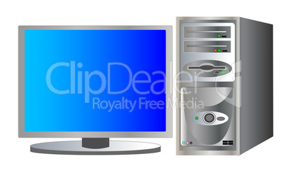 illustration eines desktop computers