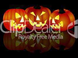 drei halloween kürbisse
