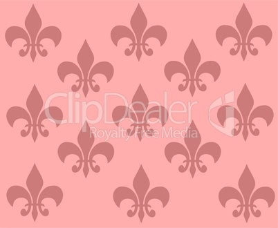 rosafarbene tapete mit ornamenten