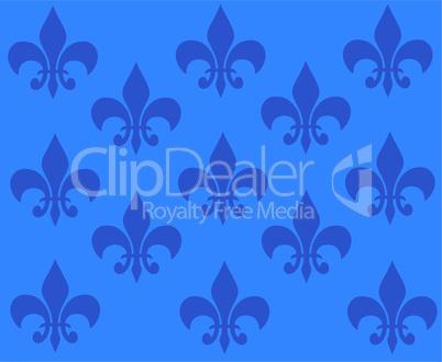 blaue tapete mit ornamenten
