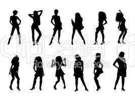 illustration - frauen silhouetten