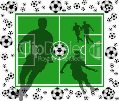 fussball - spielfeld mit spielern