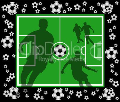schwarz grüner fussball hintergrund