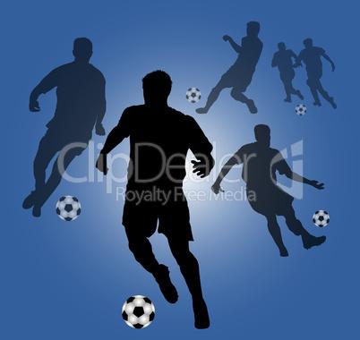 blauer fussball hintergrund