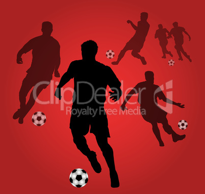 roter fussballhintergrund