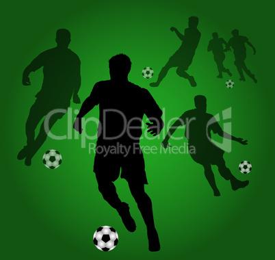 grüner fussballhintergrund