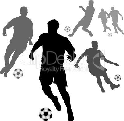 fussball spieler silhouetten