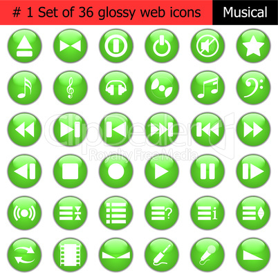 icon set #1 music