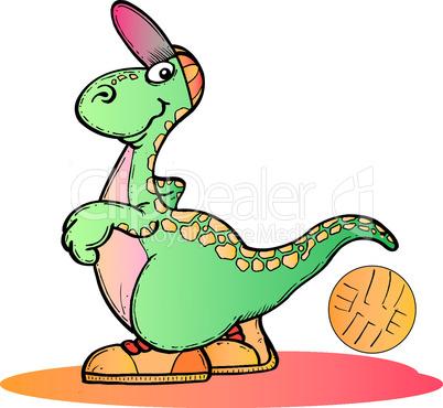 Dino mit Ball