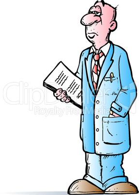gelangweilter Arzt