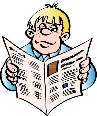 Mann mit Zeitung