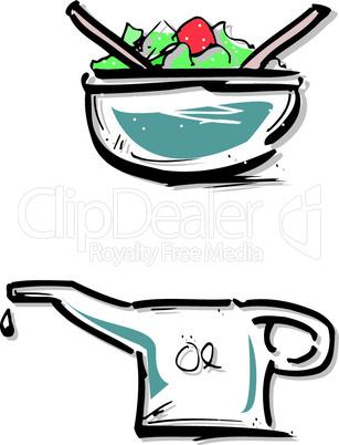 Salat und Öl