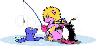 Löwe, Pinguin und Robbe