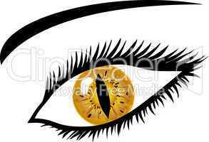 Goldenes Auge mit Tierpupille