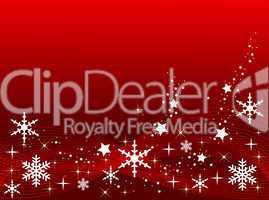 Roter Weihnachtshintergrund mit Sternen