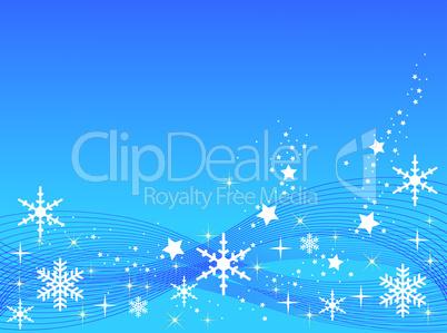 Hellblauer Weihnachtshintergrund mit Sternen