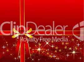 Roter Weihnachtshintergrund mit Geschenkschleife