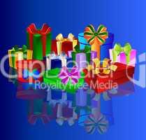 Blauer Geschenkhintergrund