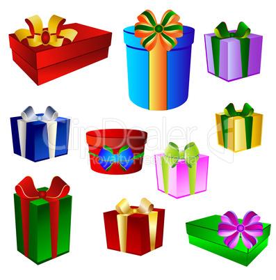 Set Geschenksymbole