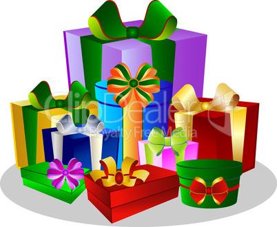 weihnachts und geburtstagsgeschenke lizenzfreie bilder. Black Bedroom Furniture Sets. Home Design Ideas