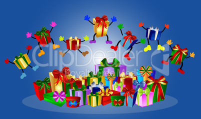 Springende Geschenke