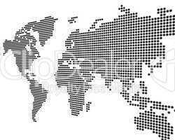 Weltkarte weiß