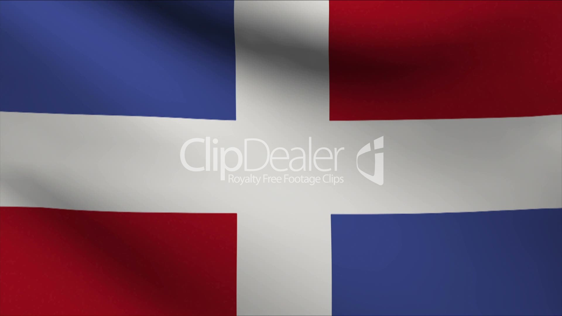 Dominican Republic Flag Royalty Free Video And Stock Footage