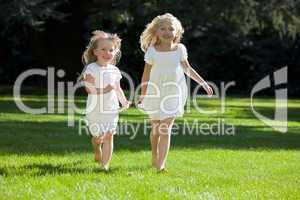 Young Girls Running