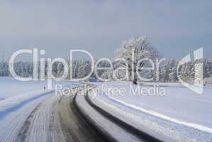 Straße im Winter - road in winter 01