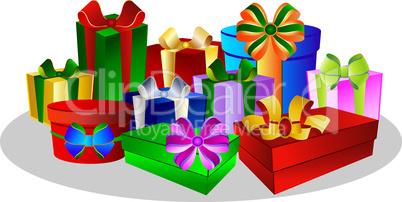 Bunte Weihnachtsgeschenke
