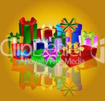 Hintergrund mit Weihnachtsgeschenken