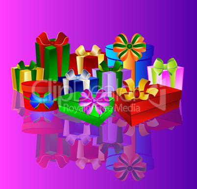 Pink Hintergrund mit Geschenken