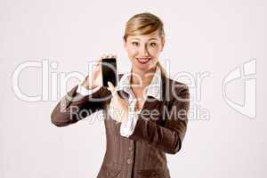 business woman with cell phone
