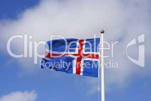 Die Flagge Islands