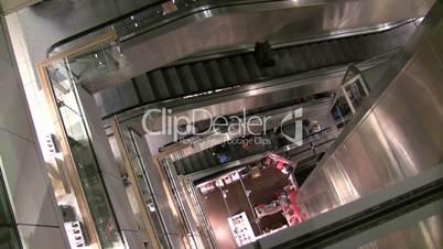 Department Store Escalators and Elevator