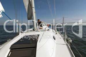 Skipper und seine Jacht