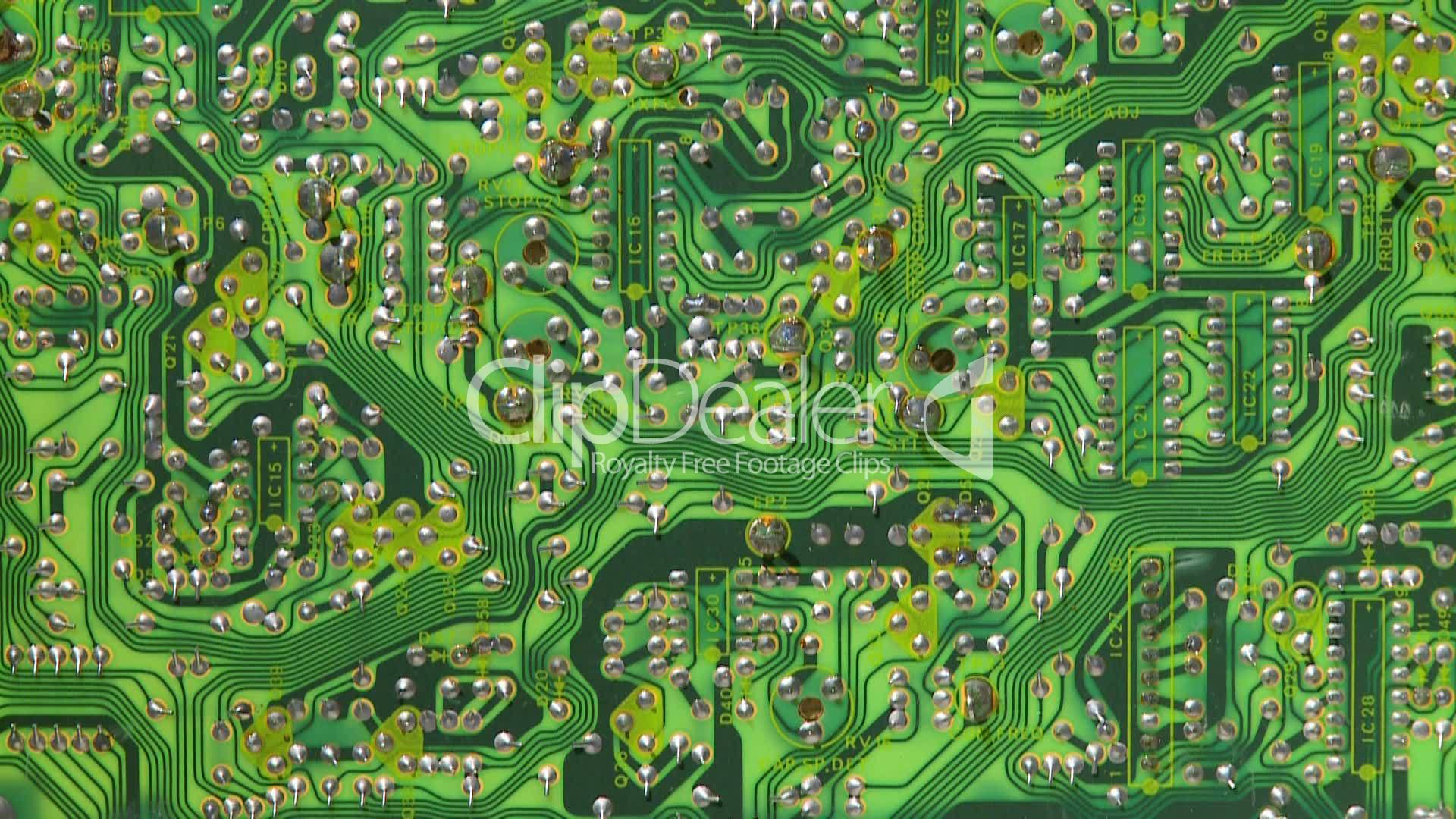 Electronic Circuit Board 8 Royalty Free Video And Stock Footage Electric Circuitry Circuits Communication Components Computer Connections Digital Diode