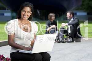 Asian Woman on Laptop