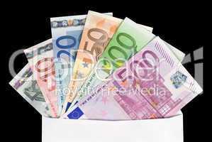 Kuvert mit Euroscheinen