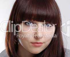 Portrait of teenage girl close-up