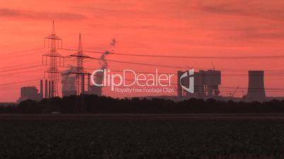 Braunkohlekraftwerk im Bau