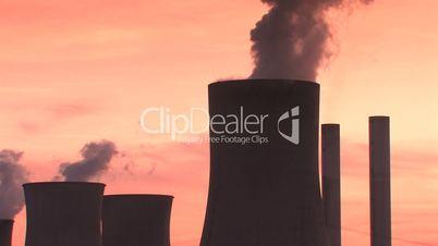Kühltürme eines Braunkohlekraftwerk