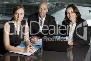 Businessteam mit drei Personen
