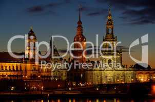 Dresden Altstadt Nacht - Dresden old town night 08