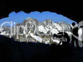 Bergsteiger bei Chamonix